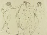 Four Nudes, George Biddle, lithotint
