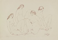 Four Nudes, George Biddle, lithograph