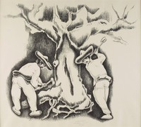 Wood Cutters, George Biddle, lithograph