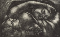The Lovers, George Biddle, lithograph