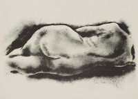 Reclining Nude, George Biddle, lithograph