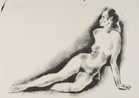 Nude, George Biddle, lithograph