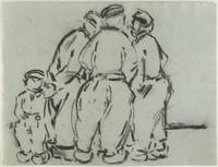 Four Dutch Males, Lucille Douglass, charcoal
