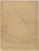 Boats, Lucille Douglass, pencil