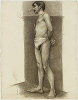 Standing Male Nude (recto); Standing Female Nude (verso), Lucille Douglass, charcoal