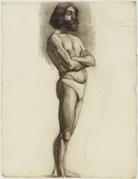 Standing Male Figure - Bearded, Lucille Douglass, charcoal