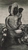 Madonna of the Field, Merritt Mauzey, lithograph