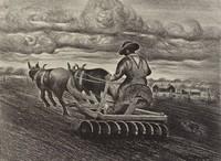 Mellow the Earth, Merritt Mauzey, lithograph