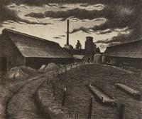 Molten Skies, Merritt Mauzey, lithograph