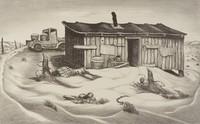 Nugent's Corner, Merritt Mauzey, lithograph