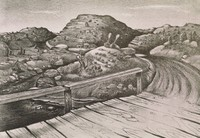 Road to Blackwell, Merritt Mauzey, lithograph