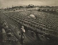 October, Merritt Mauzey, lithograph