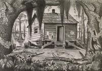 Evangeline Country, Merritt Mauzey, lithograph