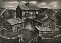 Sundown, Merritt Mauzey, lithograph