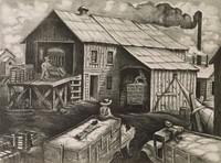 Trip to the Gin, Merritt Mauzey, lithograph
