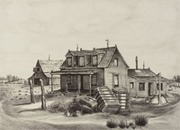 The Giles Place, Merritt Mauzey, lithograph