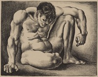 Figure, Mike Owen, lithograph