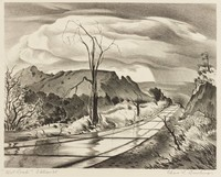 Wet Road, Charles Bowling, lithograph