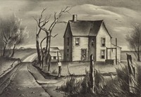 March, Charles Bowling, lithograph
