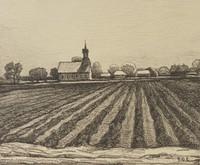 Rural Church, Ed Eisenlohr, lithograph
