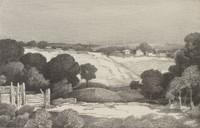 Rural Homes, Ed Eisenlohr, lithograph