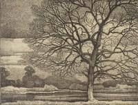 On the Edge of White Rock Lake, Ed Eisenlohr, lithograph