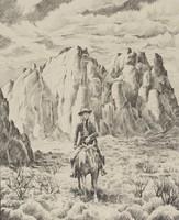 Untitled (Cowboy), William Elliott, lithograph