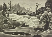 Rushing River, William Lester, lithograph