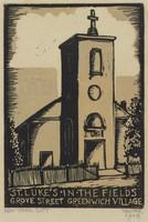 St. Luke's in the Fields, Lucy Jane Salter, woodcut