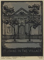 St. John's in the Village, Lucy Jane Salter, woodcut