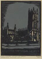 First Presbyterian Church, Lucy Jane Salter, woodcut