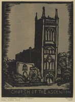 Church of the Ascension, Lucy Jane Salter, woodcut