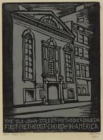 Old John St. Methodist Church First Methodist Church in America, Lucy Jane Salter, woodcut