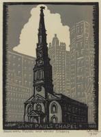 St. Paul's Chapel, Lucy Jane Salter, woodcut