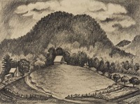 Wolf Fork Valley, Joseph Marino-Merlo, pencil on paper