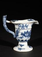 Helmet Pitcher, China, porcelain with underglaze blue decoration, Export ware
