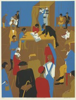 The 1920s... The Migrants Cast Their Ballots, Jacob Lawrence, Printed by Ives-Sillman, Inc., screenprint