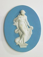 Venus Anadyomene, blue and white
