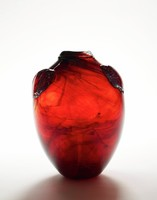 Vase with Two Prunts, C. Fritz Dreisbach, glass, free blown