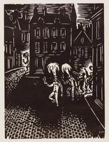 Les Gilles, Frans Masereel, woodcut