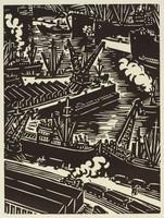Anvers - les Docks, Frans Masereel, woodcut