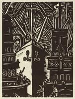 Anvers - Dédouanement de grains, Frans Masereel, woodcut