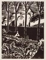 À l'abri des digues, Frans Masereel, woodcut