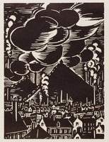 Charleroi, Frans Masereel, woodcut