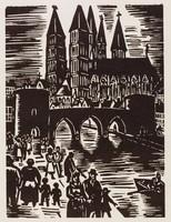 Tournai, Frans Masereel, woodcut