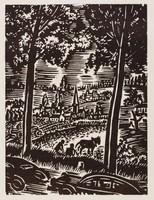 Campagne brabançonne, Frans Masereel, woodcut