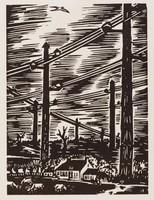 L'électrification, Frans Masereel, woodcut