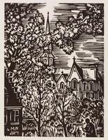 Église de Meise, Frans Masereel, woodcut