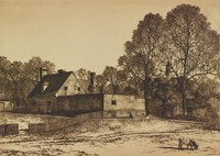The Public Gaol, Williamsburg, Va., Samuel Chamberlain, drypoint