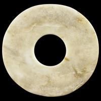 Ritual Disc (Bi) of Mutton Fat Jade, China, jade